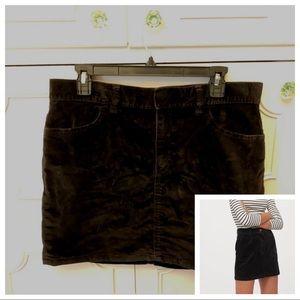 GAP Skirts - Gap Black Velvet Corduroy Skirt